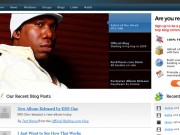 Hip Hop Community Website Layout