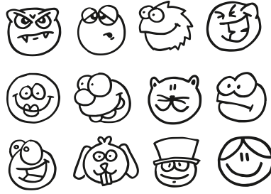 FUNNY FACES, Vector Image - Clipart.me