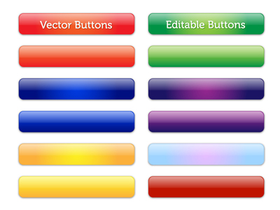 11 Glossy Button Template Clip Art, Vector 11 Glossy Button ...