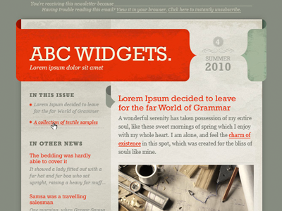 « Accolade » Email Template PSD par Veerle Pieters