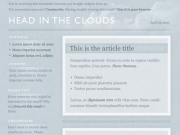 'Clouds' Template PSD by Meagan Fisher