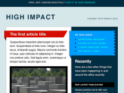 'Impact' Email Template PSD by Elliot Jay Stocks