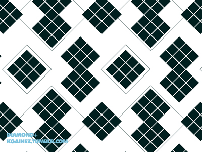 Desperately seeking fabric in a black and white diamond pattern