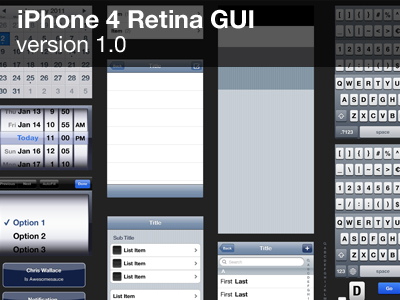 iPhone 4 GUI (視網膜)
