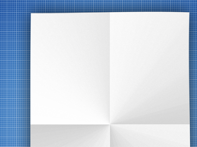 Blank folded page