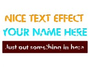 Nice Text Effect Overlay Mask