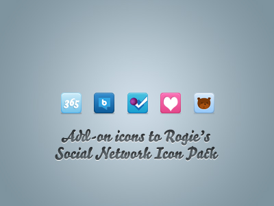Add-on Icons to Rogie\'s Social Network Icon Pack