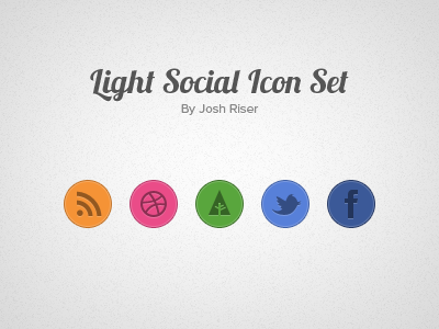 Light Social Icon Set