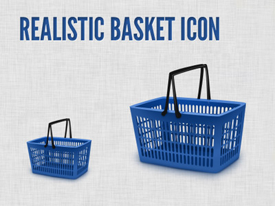 Realistic basket icon