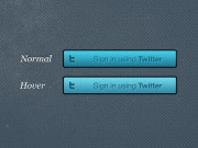 Twitter Sign-In Button PSD
