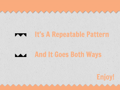 Ribbons Repeatable Pattern