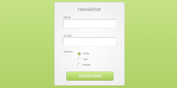 Simple Newsletter Form