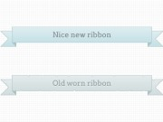 Ribbons - new and worn
