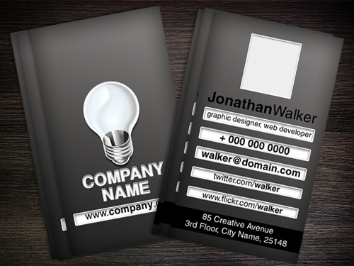 Designer or web developer Business card
