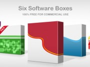 3D software box: 6 patterns (Free PSD)