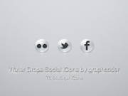 graphcoder's  70water drop social iCons