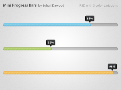 Mini Progress Bars