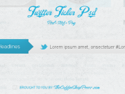 Twitter Ticker Psd