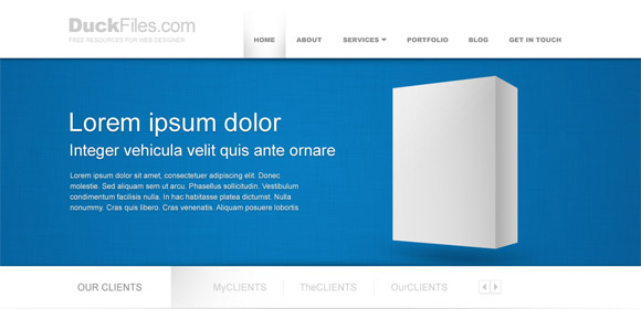 Corporate website template (Free PSD), Cliparts - Clipart.me