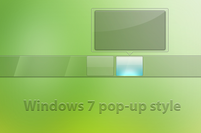 Windows7 popup