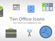 10 office icons. Part 2 (Free PSD and PNG)