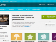 Frontpage template for community website (PSD)