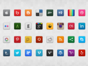Social Media Icon Set (PSD+PNG)
