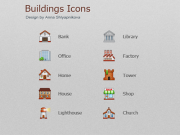 Buildings Icons (PNG+ICO)