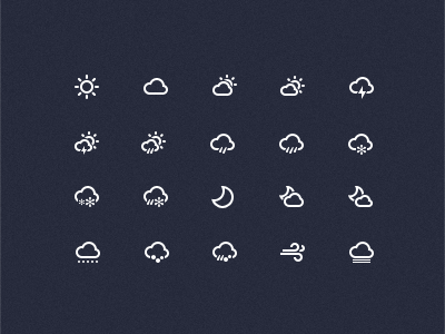 Weather Icons(PSD)