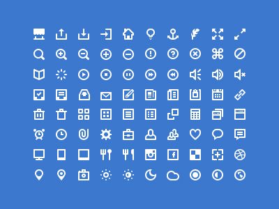 80 Mini White Icons