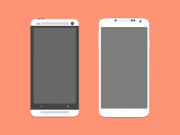 HTC One and Galaxy S4 Mockup