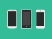 Flat Mobile Phones(PSD)